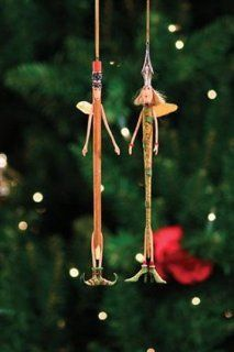 Patience Brewster Krinkles **Pen & Pencil Ornament, Set of 2** 08 30338**   Decorative Hanging Ornaments