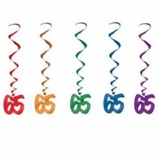 65th Birthday Hanging Whirls: Health & Personal Care