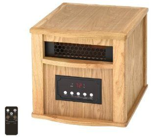Smart+ Products Infrared Quartz Portable Space Heater Electric Light Oak 1000 Sq Ft SPP 1000 4WC: Home & Kitchen