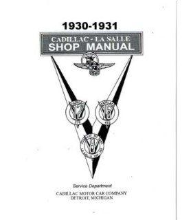1930 1931 Cadillac Lasalle 370 452 Shop Service Repair Manual Book Engine OEM Automotive