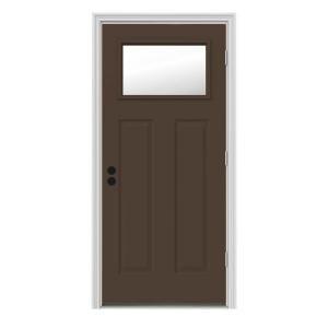 Jeld Wen 9 Lite Unfinished Hemlock Dutch Entry Door With