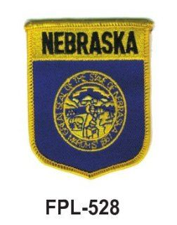 3 1/2'' State Flag Embroidered Patch (Shield) Nebraska