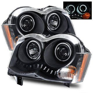 Jeep Grand Cherokee Black CCFL Halo Projector Headlights   Fits All Automotive