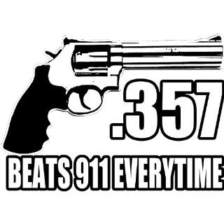 357 Beats 911 Handgun Pro Gun Firearm 2nd Amendment Ar15 Ak47 M16 Sticker Decal By Achtung T Shirt LLC: Automotive