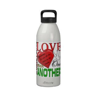 World Peace Love One Another 2012 Original Design Water Bottle