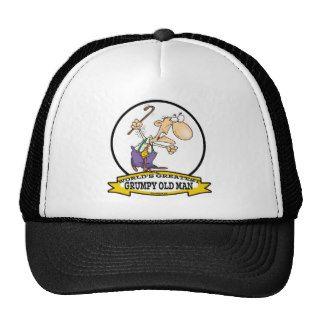 WORLDS GREATEST GRUMPY OLD MAN CARTOON MESH HATS