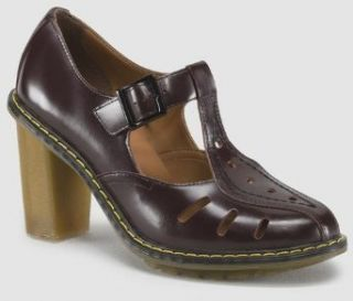 Dr. Martens Womens ARIANNA Cut Out T BAR. Color Style: Oxblood. UK Size: 3: Clothing