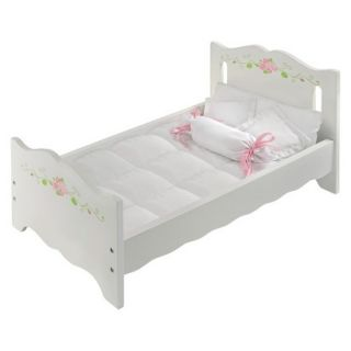 Badger Basket White Rose Doll Bed