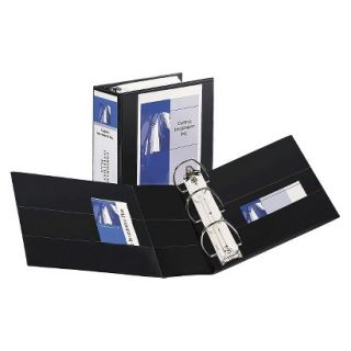 Avery Durable View Binder with Two Booster EZD Rings, 5 Capacity   Black