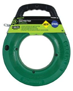 Greenlee FTS438W 100 100 Feet x 1/4 Inch Steel Fish Tape   Electrical Fish Tape