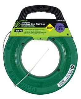 Greenlee FTSS438 200 Stainless Steel Fish Tape, 200 Feet x 1/8 Inch   Electrical Fish Tape