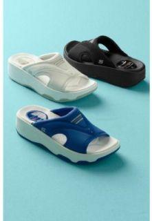 Skechers Tone ups Electric Slide Womens Sandals Slides Blue 11 Shoes