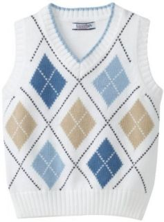 Kitestrings Boys 8 20 Argyle Sweater Vest, White, 12 Clothing