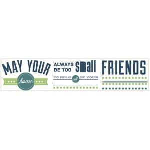 RoomMates 5 in. x 11.5 in. Room for Friends Quote Peel and Stick Wall Decals RMK2410SCS