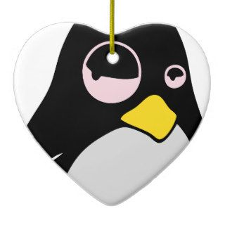 LAZY LINUX TUX PENGUIN CHRISTMAS TREE ORNAMENT
