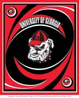 Collegiate Fleece Panels Georgia Bulldogs Fabric By The Panel