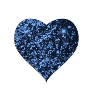 COOL ROYAL BLUE BLACK SPARKLE GLITTER BACKGROUND P HEART STICKERS