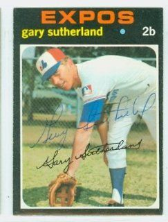 Gary Sutherland AUTO 1971 Topps #434 Expos: Sports Collectibles