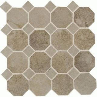 Daltile Aspen Lodge Shadow Pine 12 x 12 x 6mm Porcelain Octagon Mosaic Floor and Wall Tile (7.74 sq. ft. / case) DISCONTINUED AL623OCTMS1P