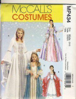 McCall Sewing Pattern P434 (M5731)   Use to Make   Kids Princess Costumes   Sizes 3 8