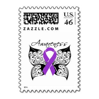 Tattoo Butterfly Awareness   Pancreatic Cancer Postage Stamps