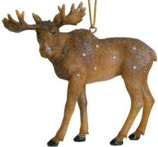 December Diamonds Zoology Collection Moose Ornament Rhinestone Studded   Decorative Hanging Ornaments