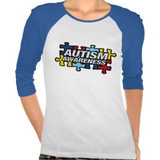 Autism Awareness Puzzle Pieces Tshirts