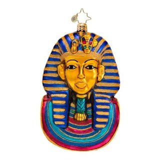 RADKO KING OF THE NILE King Tut Egyptian Mask Christmas Glass Ornament   Christmas Ball Ornaments