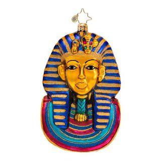 RADKO KING OF THE NILE King Tut Egyptian Mask Christmas Glass Ornament   Christmas Ball Ornaments
