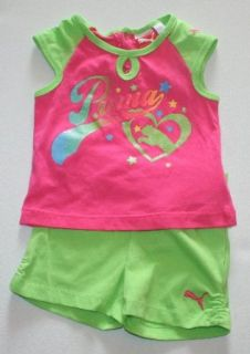 Puma Baby Girl's 2 piece Shirt and Short Set (12 Months) Clothing