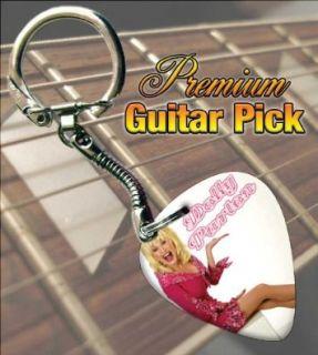 Dolly Parton (2) Premium Guitar Pick Keyring Shoes