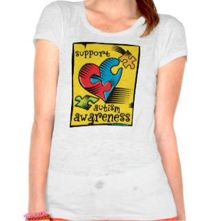 Autism Awareness Heart Puzzle Pieces T shirt