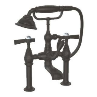 JADO Savina 2 Handle Deck Mount Tub Filler in Old Bronze with Lever Handles DISCONTINUED 845.538.105