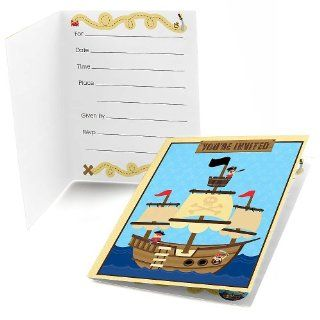 It's A Boy Mates! Pirate   Baby Shower Fill In Invitations   8 ct: Toys & Games
