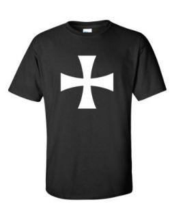 Not Just Nerds Men's Medieval Crusade White Cross T Shirt Clothing