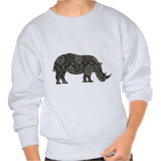 Camiseta de la silueta de los rinocerontes negros de