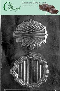 Cybrtrayd N037 Nautical Candy Mold Chocolate, Shell Pour Box Candy Making Molds Kitchen & Dining