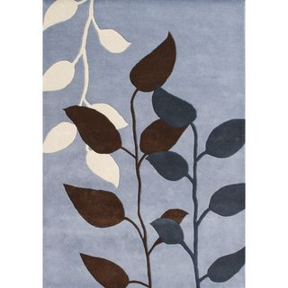 Hand tufted Dust Blue Wool Rug (9 X 12)