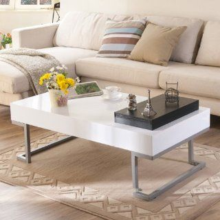 Enitial Lab Contemporary Rectangular Coffee Table   Living Room Furniture Sets