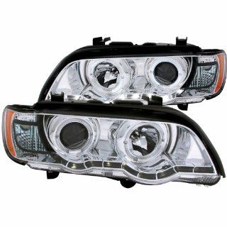 Anzo USA 121397 Chrome Halo Projector Headlight with Clear Lens and Amber Reflector for BMW X5 E53 Automotive