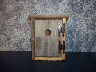 Barnwood Outhouse Bird House Amish Handmade Collectible Country Primitive Decor. Enjoy Nature's Beauty As It Converts This One of a Kind Treasure Into It's Majestic Haven. Barnwood Taken From Barns in the Ohio Valley, Well Over 100 Years Old. Measu