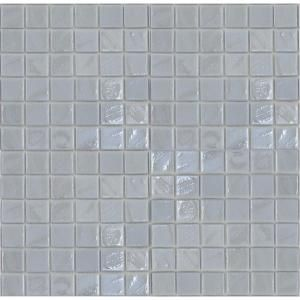 EPOCH Gemstonez Chalcedony 1301 Mosaic Recycled Glass 12 in. x 12 in. Mesh Mounted Floor & Wall Tile (5 sq. ft.) CHALCEDONY 1301