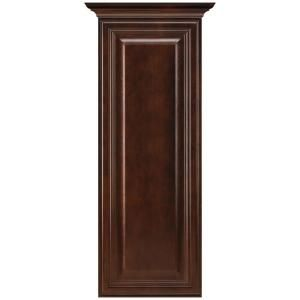 MasterBath Raised Panel 12 in. W Wall Hutch Cabinet in Java MEWH JAV