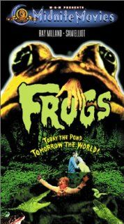 Frogs [VHS]: Ray Milland, Sam Elliott, Joan Van Ark, Adam Roarke, Judy Pace, Lynn Borden, Mae Mercer, David Gilliam, Nicholas Cortland, George Skaff, Lance Taylor Sr., Hollis Irving, Mario Tosi, George McCowan, Fred R. Feitshans Jr., George Edwards, Norman
