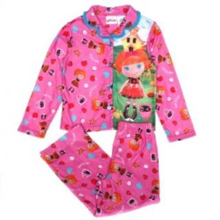 Lalaloopsy Bea Spells A Lot Girls Flannel Pajamas (M (7/8), Pink): Pants Pajamas Sets: Clothing