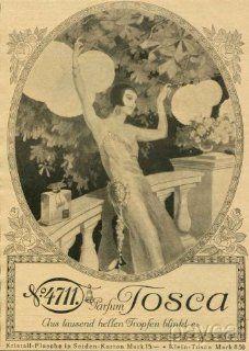 1926 Art Deco Ad Print No4711 Parfum Tosca Perfume Girl Fashion Dress