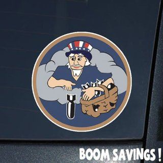 "Air Force USAF USAAF WWII 524th Bomb Squadron 379th Bomb Group 8th Air Force SSI 6"" Decal Sticker: Automotive"