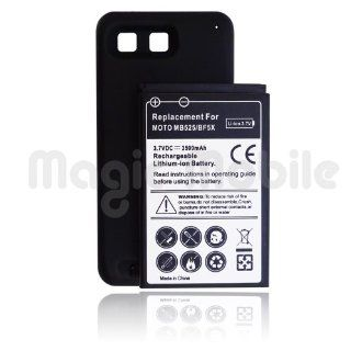 Motorola Defy MB525 Standard Battery and Battery Door Cover with T Mobile Logo Black + Getting Started Guide: Cell Phones & Accessories