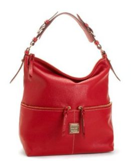Dooney Bourke Calf Leather Medium Zipper Pocket Sac Bag Purse Tote Red Clothing