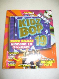 Kidz Bop 19 Super Deluxe Edition (16 Track CD & 72 Page MAGAZINE + Stickers & Tattoos!): Music